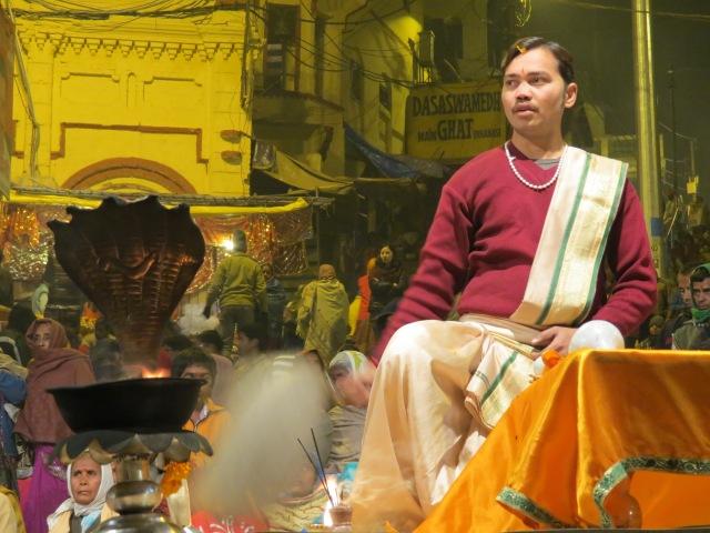 cérémonie à Varanasi