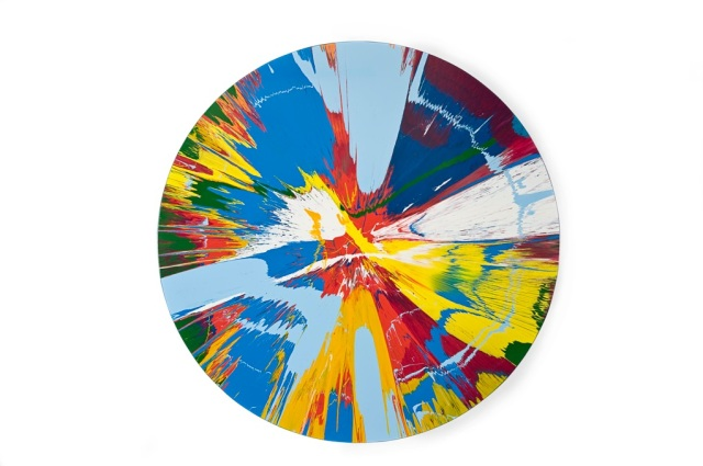Damien Hirst Spin Painting Beautifull Windmill