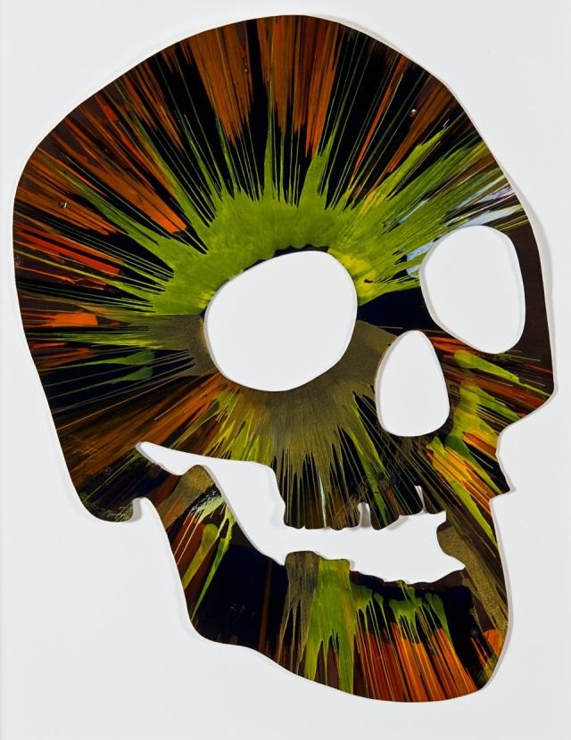 Damien Hirst Spin Painting Skull