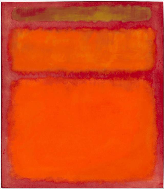 Rothko Orange red yellow 1961