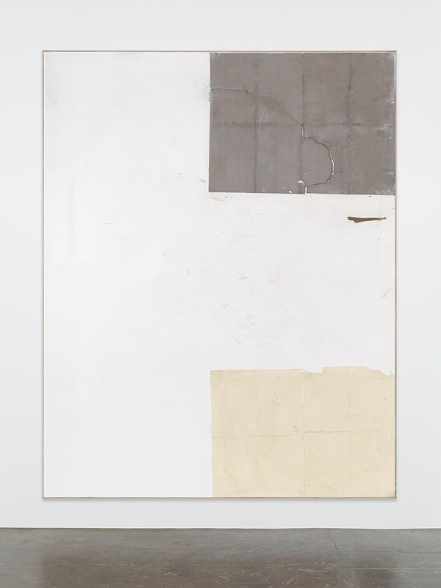 David-Ostrowski, F (Love), 2013, acrylic, lacquer, paper and cardboard on canvas, wood, 241 x 191 cm