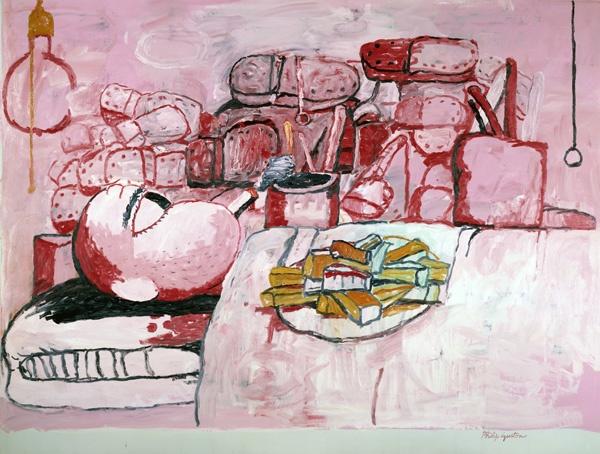 A-Schirn_Presse_Guston_Painting_Smoking_Eating_1973