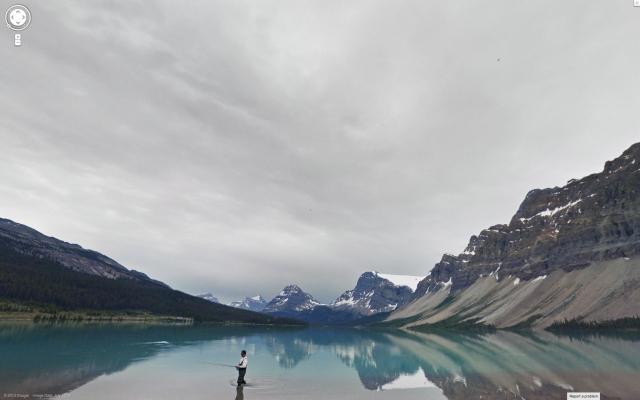 Bow Lake and Glacier, Banff National Park, Alberta, Canada, 2013