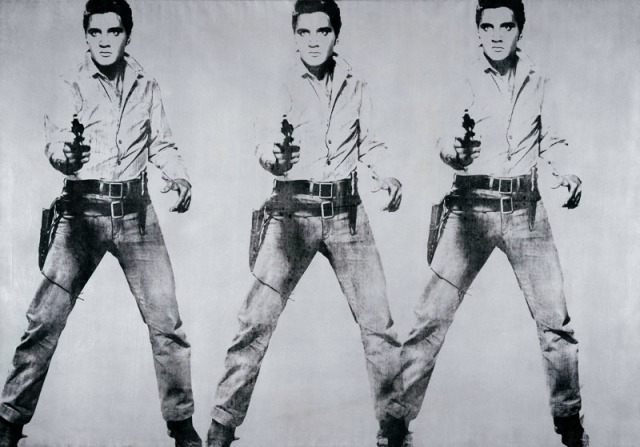 Triple Elvis 1962 Acrylic silkscreened on canvas