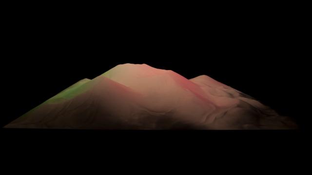 Theodore Fivel, _Sand_, sculpture de sable, 100x25x200 cm, 2014