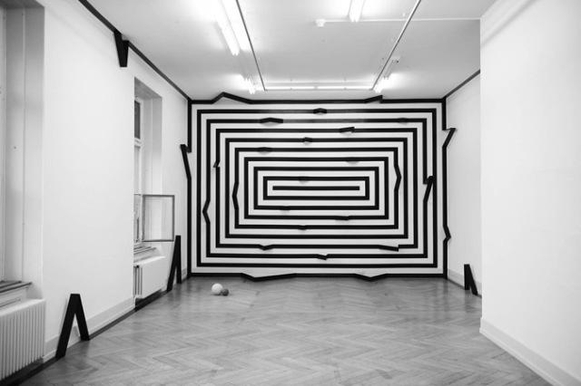 Installation view -Trait papier-, Kunsthalle Palazzo, Liestal, 2013