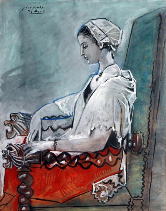 2. Pablo_Picasso_Portrait_de_Paule_de_Lazerme_en_catalane_1954_Musee_BA_Hyacinthe_Rigaud(c)Succession_Picasso_2016