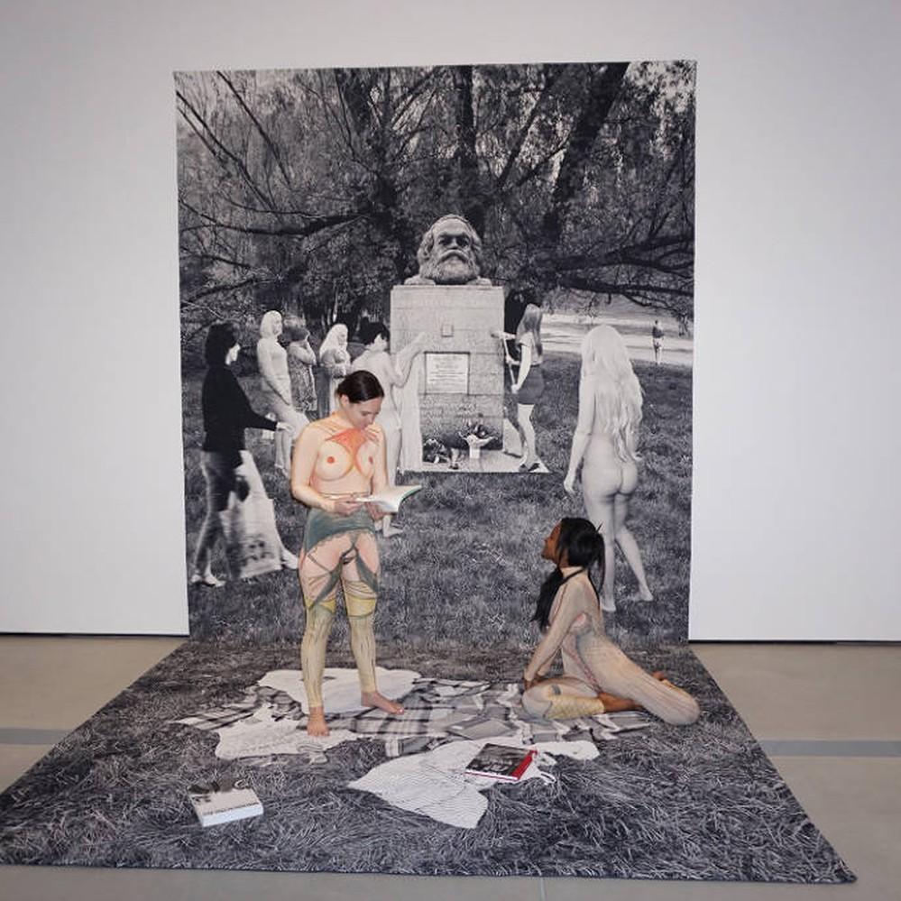 Walker- Goshka Macuga, Death of Marxism, Women of All Lands Unite 2013
